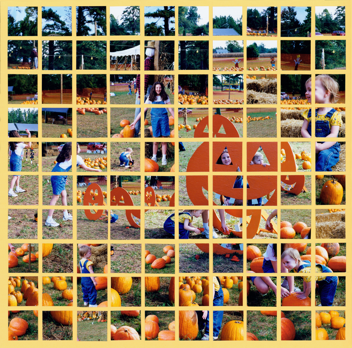 Pumpkinville - First Mosaic Moments Page by Tami Potter