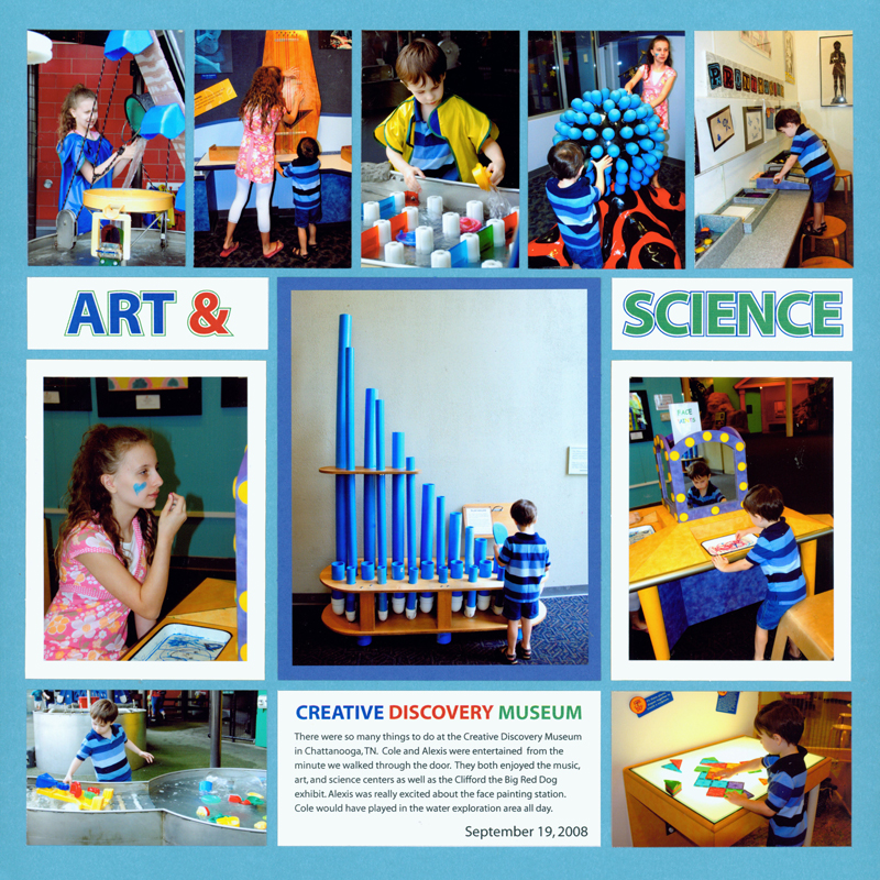 Scrapbook Page Ideas for Kids - Mosaic Moments Photo Collage System