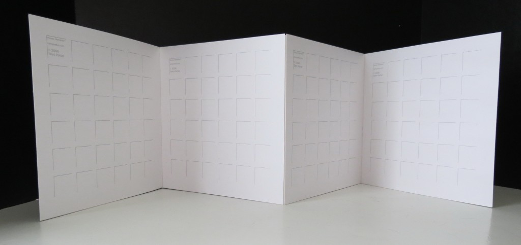 """This is what it will look like when all the 8"""" x 8"""" grids are attached. Sturdy enough to be used as a display piece."""