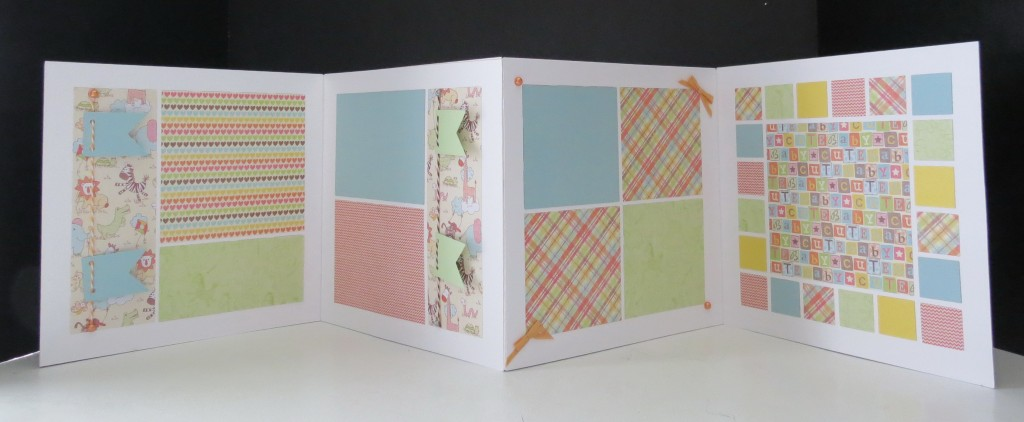 When you open the album there are two double page layout areas to fill. Additional tags can be added to include journaling.