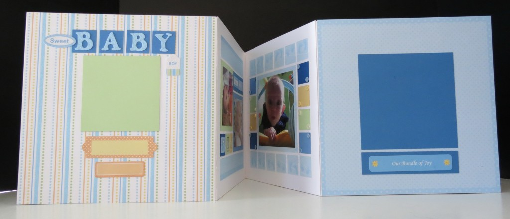 The back and front of the album with two additional spots for photos to finalize the album.