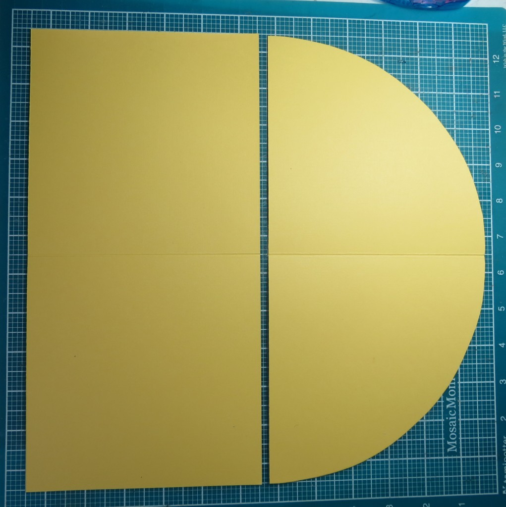 Used a rolling ruler to acquire the quarter circle shape, and then trimmed the second quarter to the same shape for a perfect match.