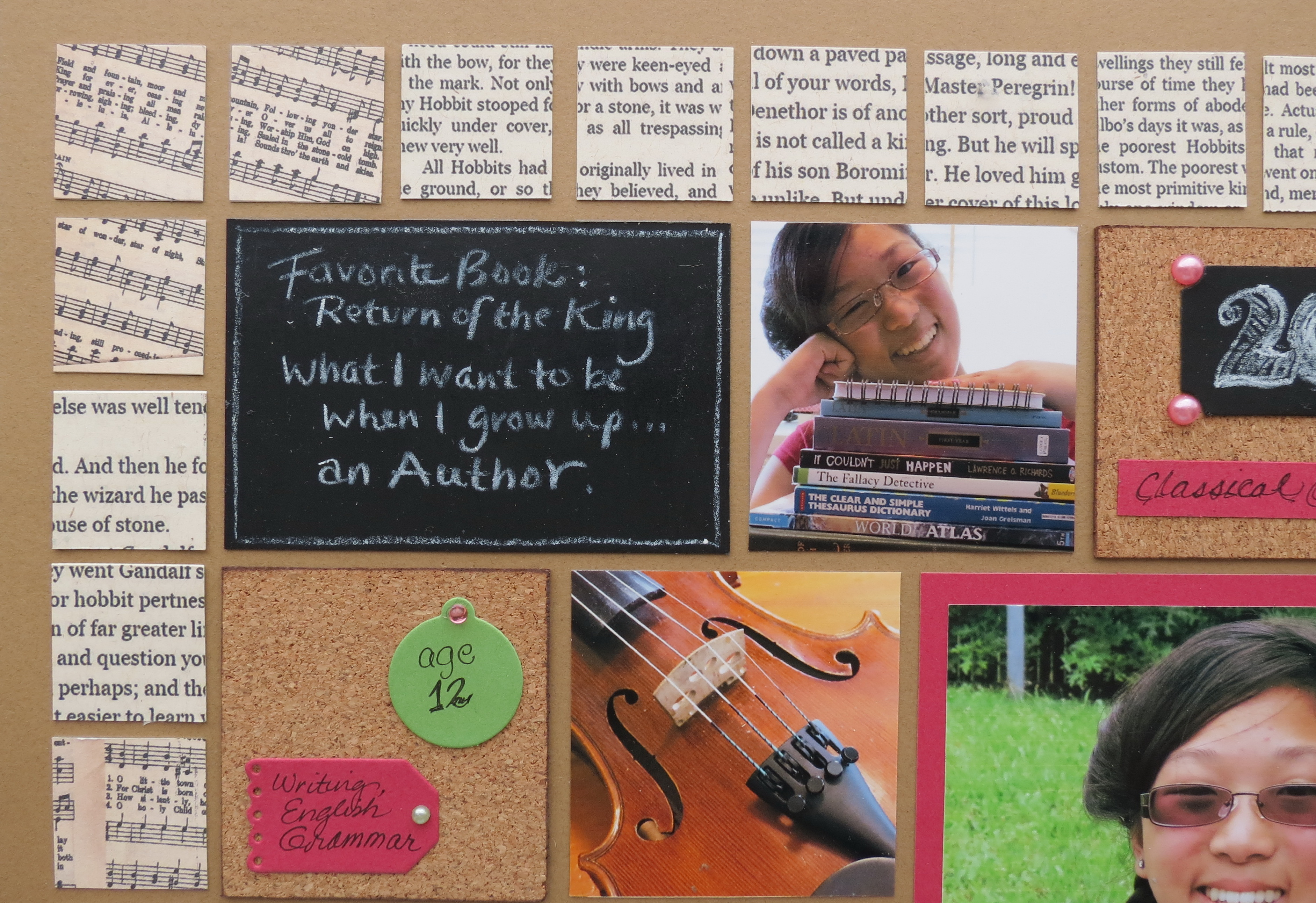 Scrapbook ideas and tips - Tip One Student Interview