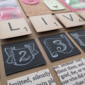 Trends: Chalkboards and Scrabble Tiles
