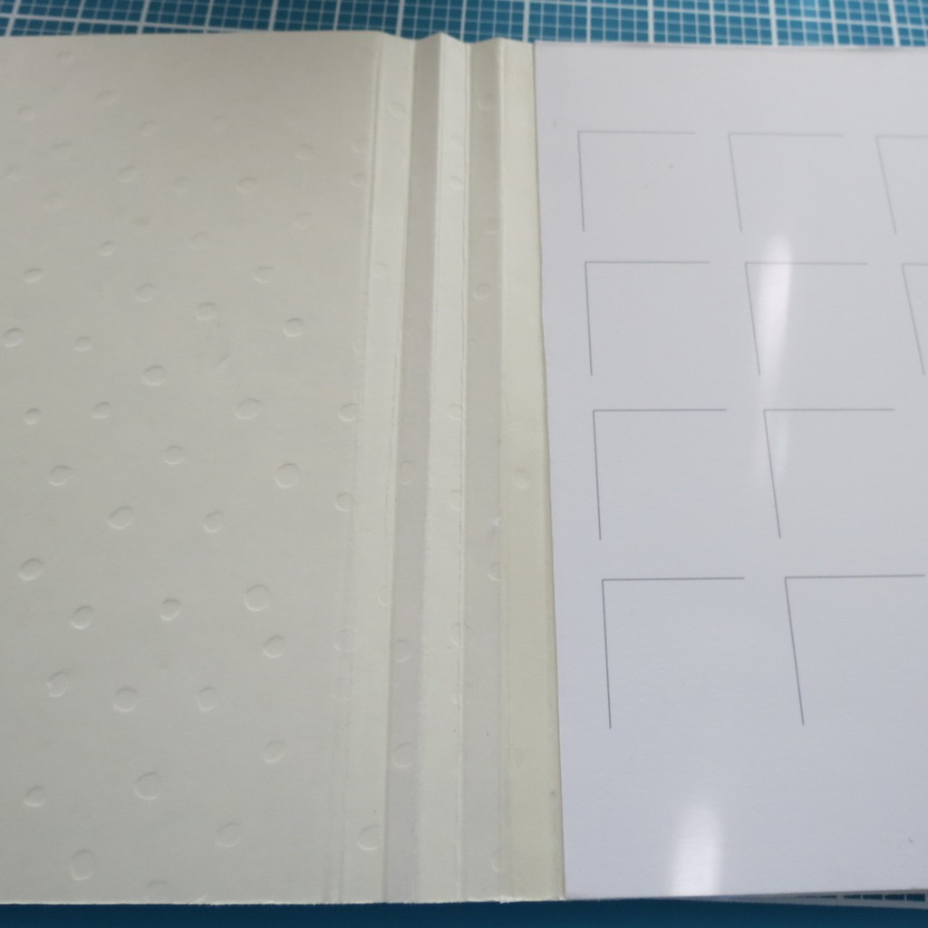 lay each side in as close as you can to the center fold.
