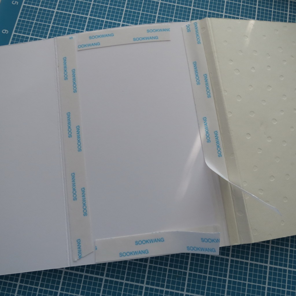By taping the page inside together you add sturdiness to the book