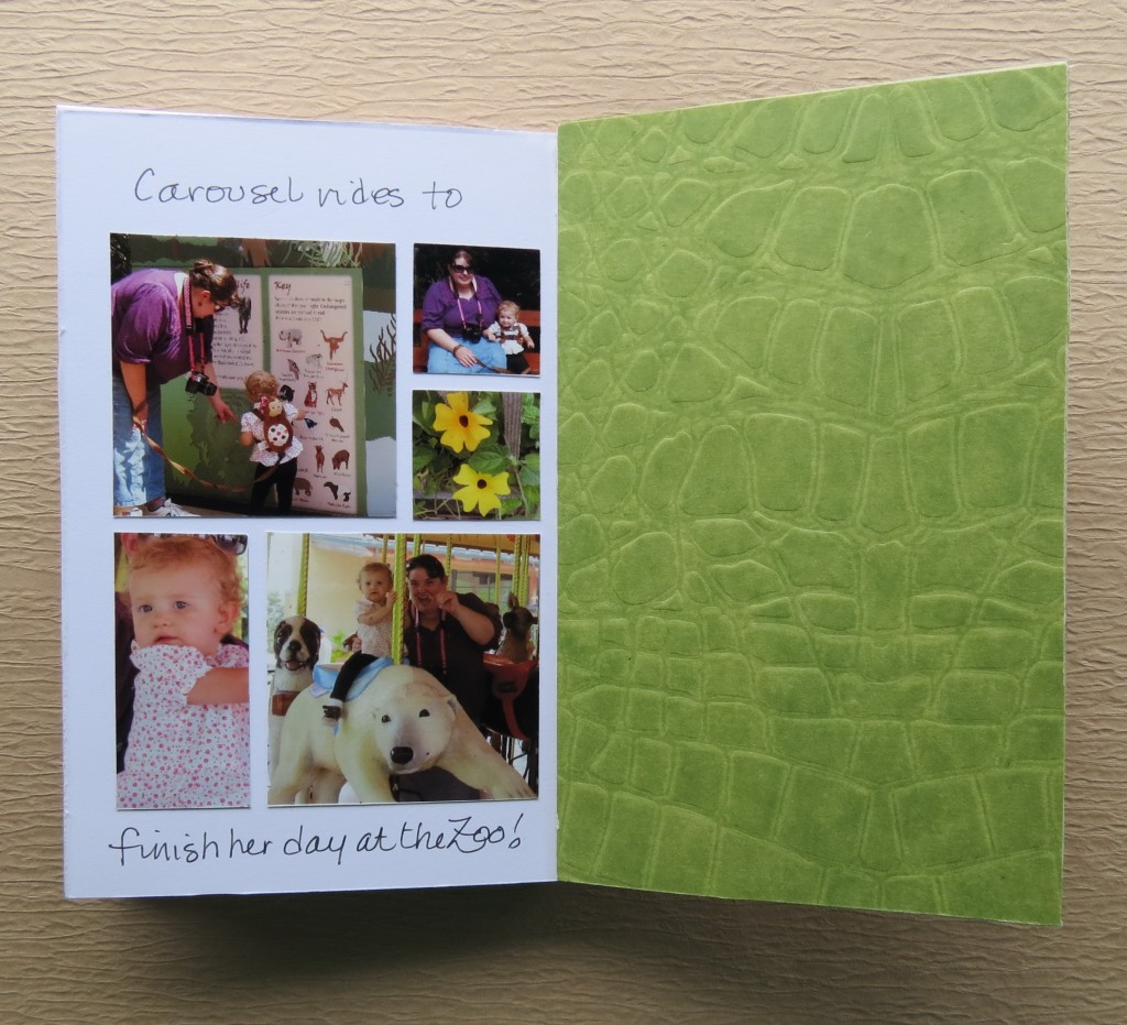 inside back cover is also covered in pattered paper as in the front.
