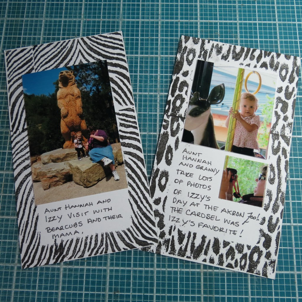 add photos and journaling as you chose.
