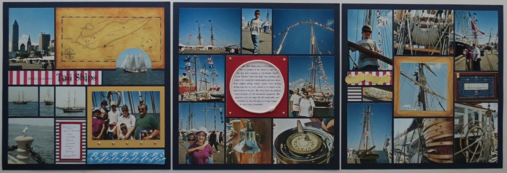 three page layout Inspired by Treasure Island