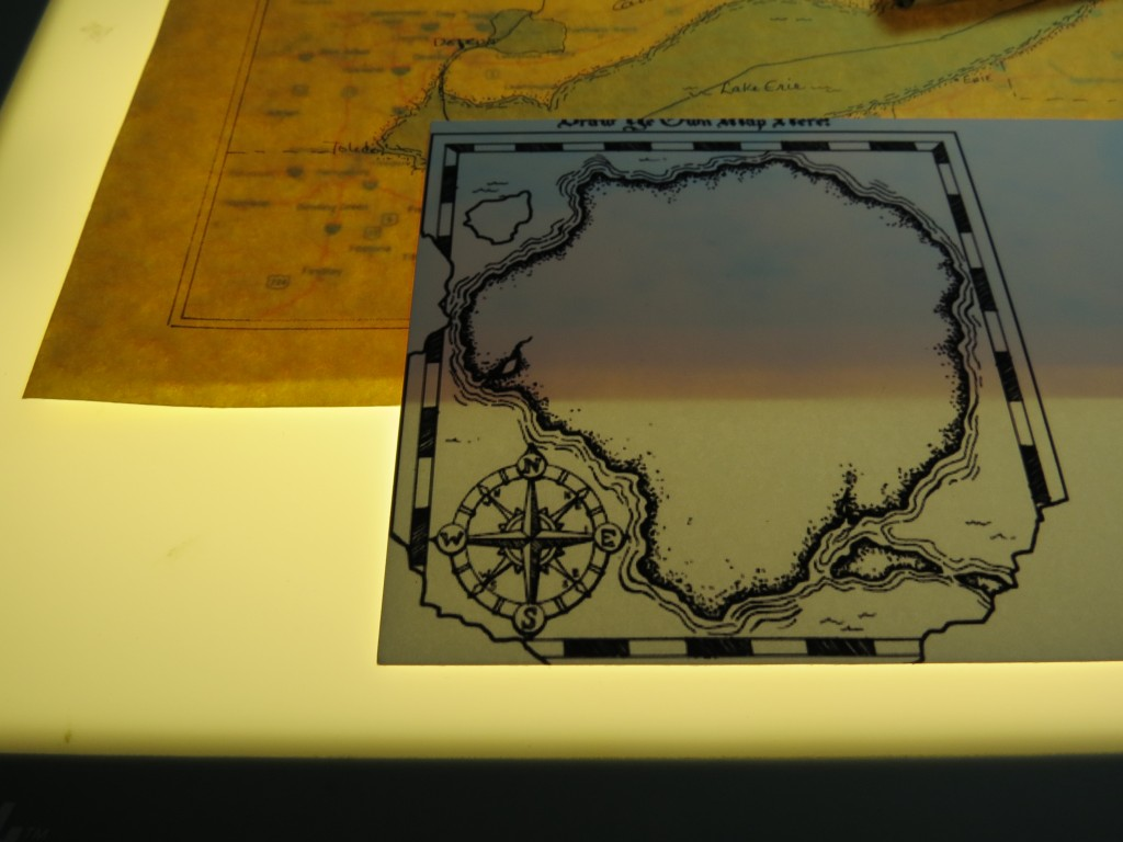 Scrapbook Pages Inspired by Treasure Island: compass rose
