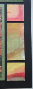 close up of water color sections