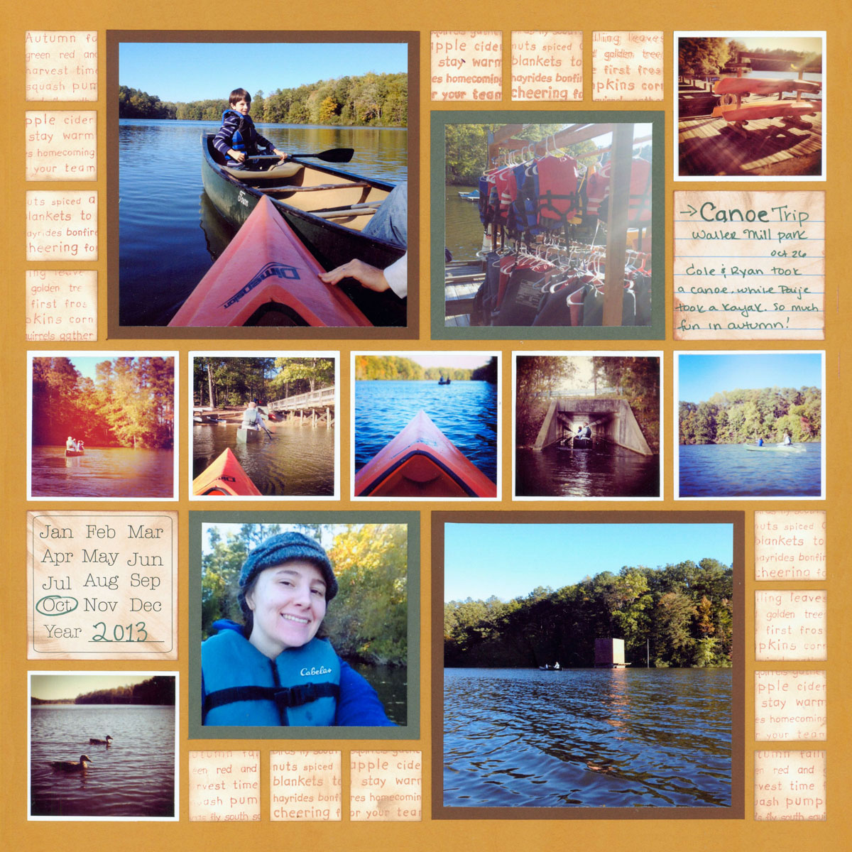 Instagram Scrapbook Layout