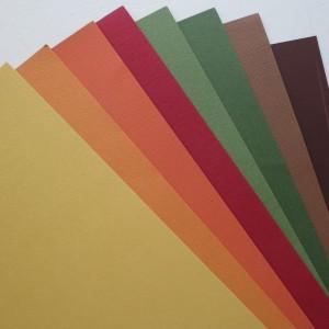 cardstock in gradient colors.