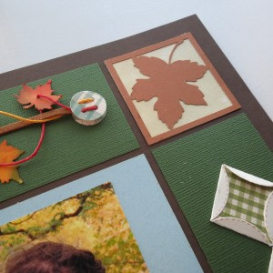 Fall Flourish #3 Cornerstones with inked background to match color scheme of layout.