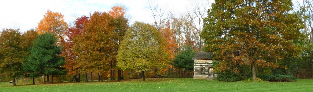 Fall Photo Tips: Include the dramatic. All trimmed away the trees and the cabin now stand out.