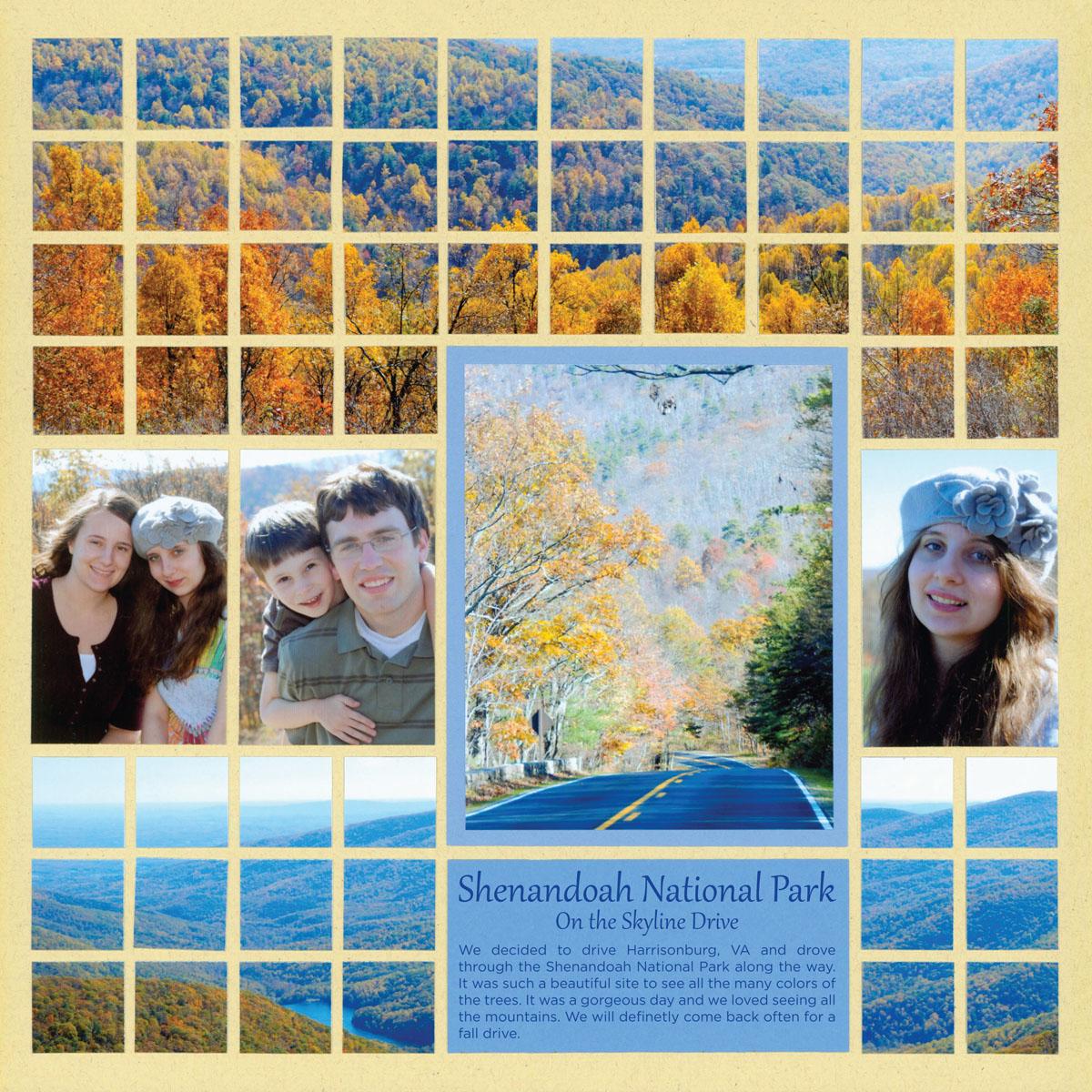 Juliet scrapbook ideas - Panoramic Scrapbook Page Lovely Autumn Landscape