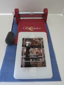 Mosaic Moments Dies. Using my Spellbinders Die Cutter to frame photo and cut.