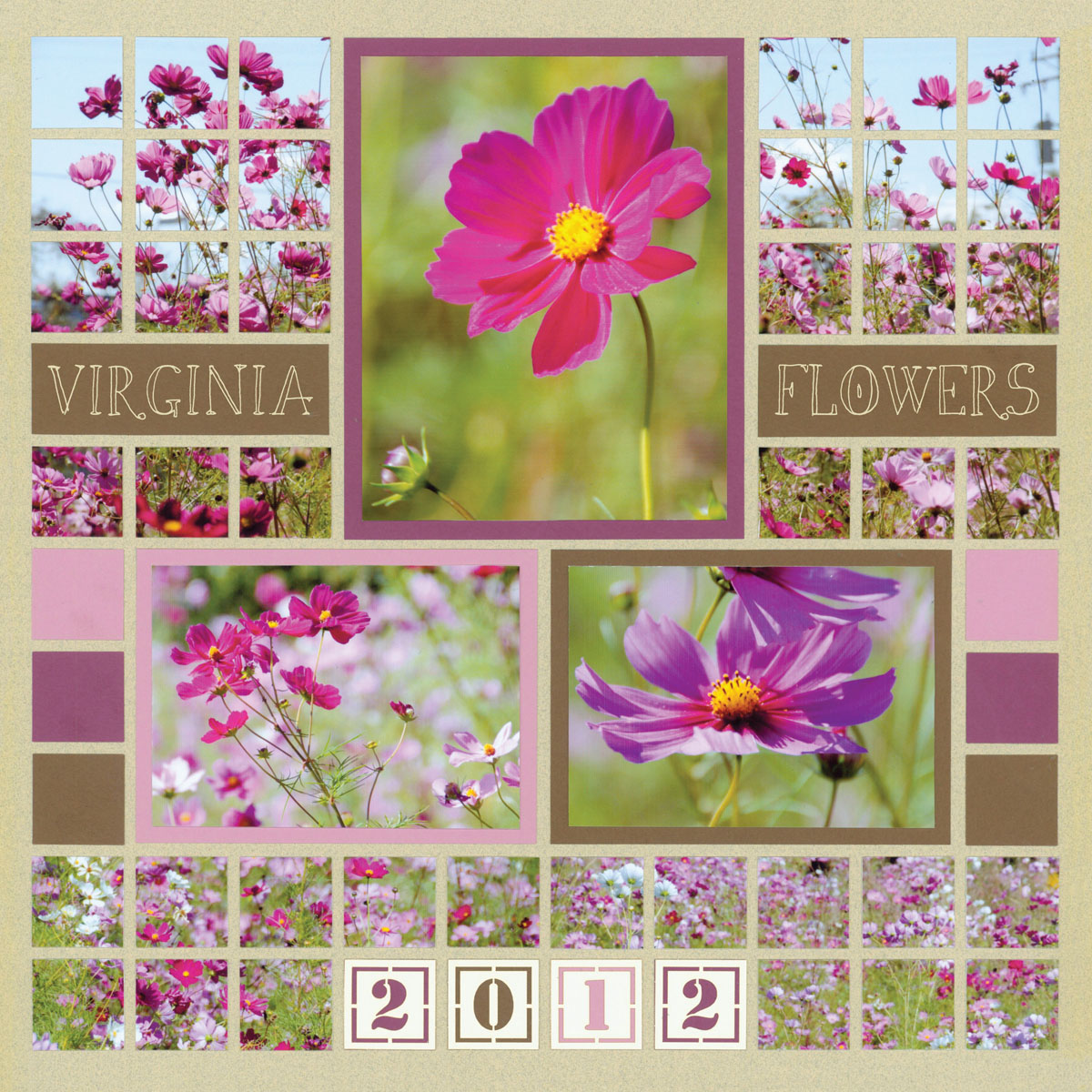 Floral Scrapbook Pages