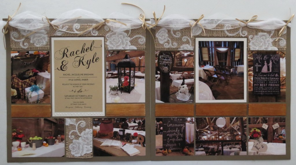 Wedding Scrapbook Tips two page layout.