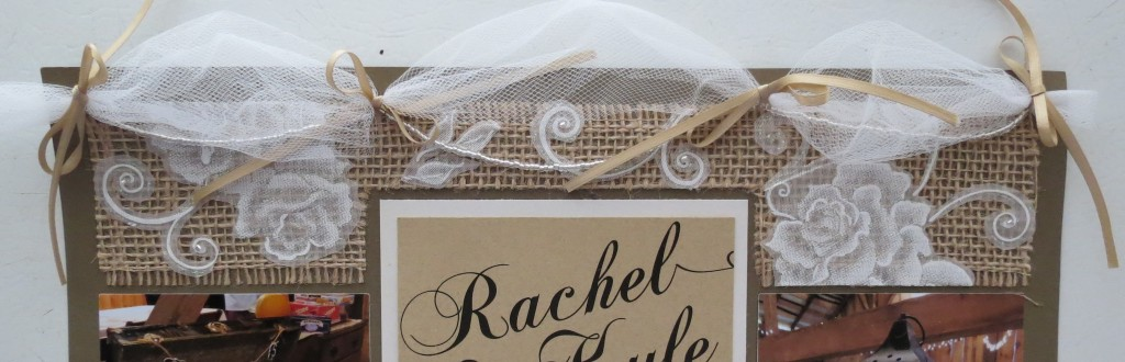 Wedding Scrapbooking Tips. Tulle topper with beading and ribbons.