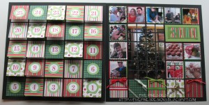 Countdown to Christmas: Two page layout to make after the holiday countdown has finished. See the unique flip version.
