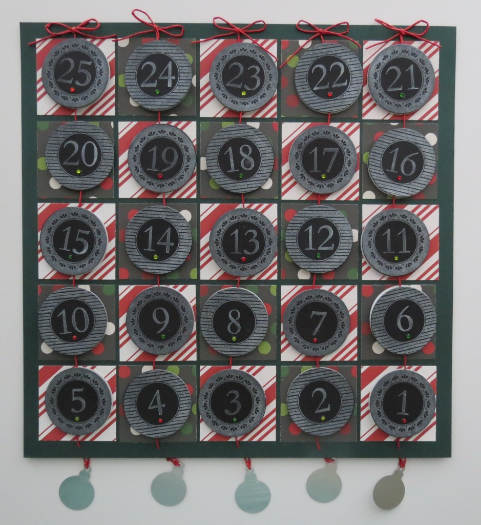 Countdown to Christmas: Tradition with a twist. Chalkboard dates countdown the days and tell the Christmas story on the reverse side.