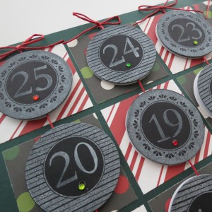 Countdown to Christmas: Vertical rows of dates will flip easily to count down and reveal the story a portion at a time.