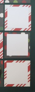 Countdown to Christmas: After the calendar is all revealed, you can remove the dates and save for another year and then use photos (size of the white squares in the photo) from your month long activities and crop smaller than the 2 x 2 block size leaving a small border of color.