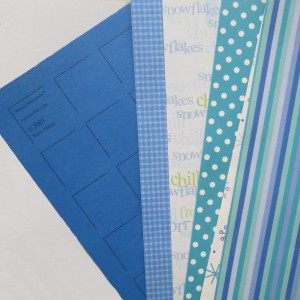 Countdown to Christmas: color palette Ocean Blue Grid Paper and several shades and patterns.
