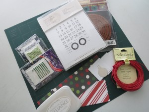 Countdown to Christmas: supplies used for the traditional Calendar.