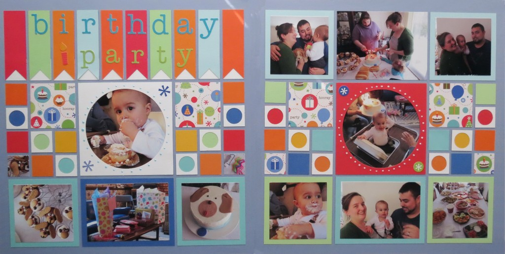 Birthday Scrapbook Pages: completed layout