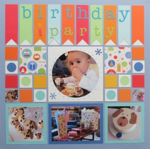Birthday Scrapbook Pages: page one.