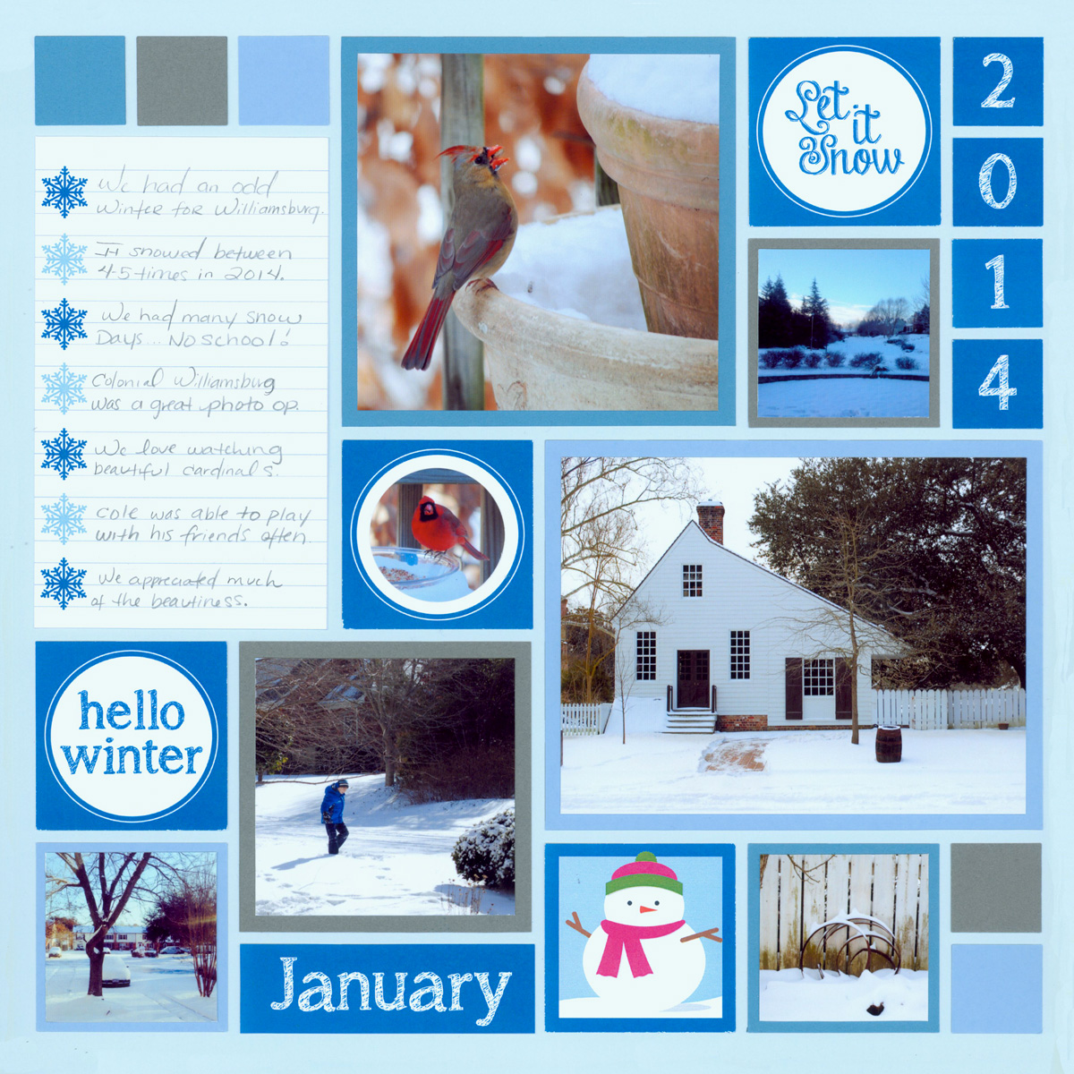 Winter Scrapbook Page