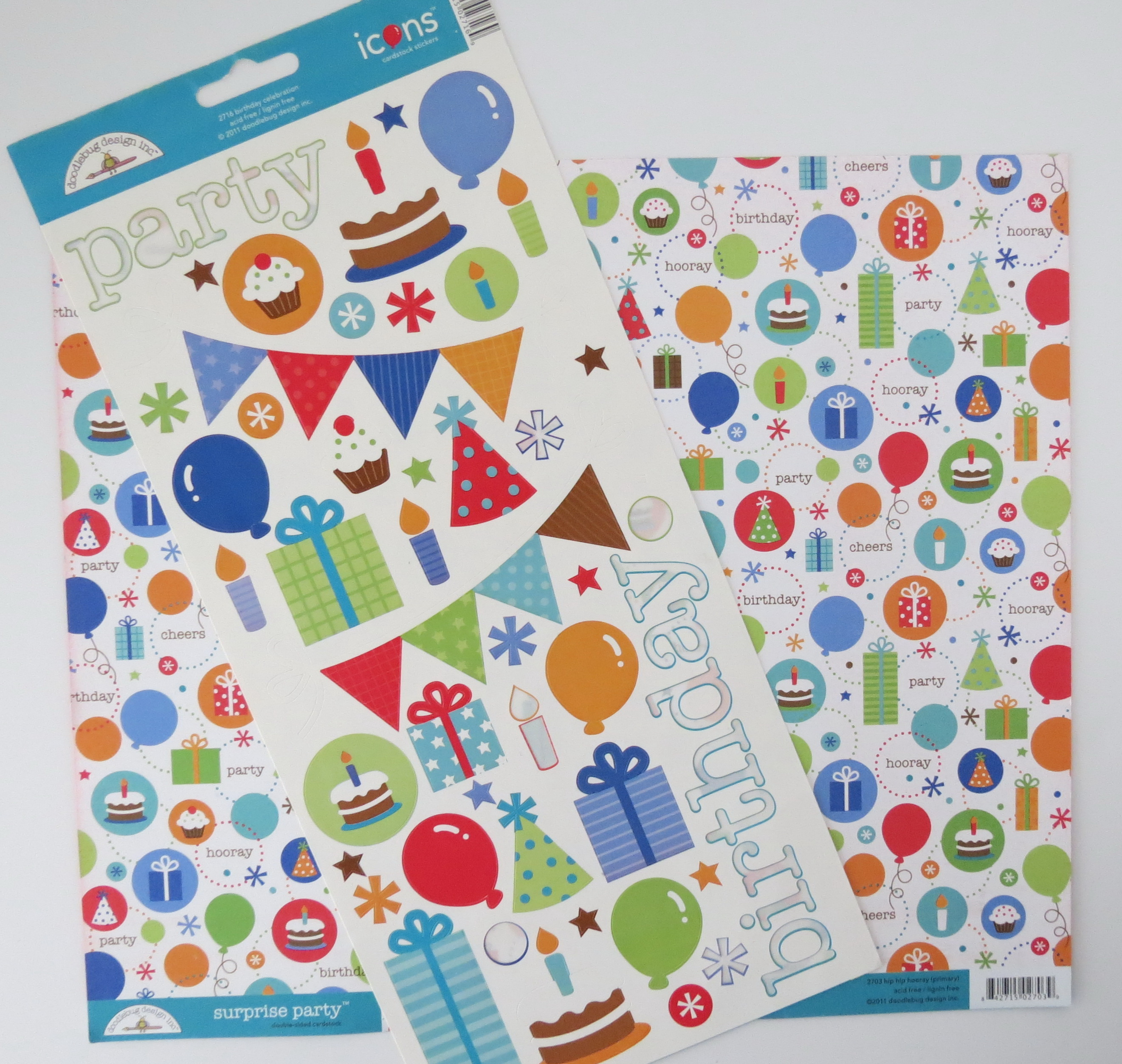 Scrapbook paper and stickers - Birthday Scrapbook Pages I Began With Patterned Paper And Stickers For My Inspiration Start