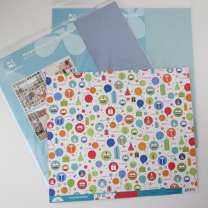 Birthday Scrapbook Pages: make a choice and add a grid.