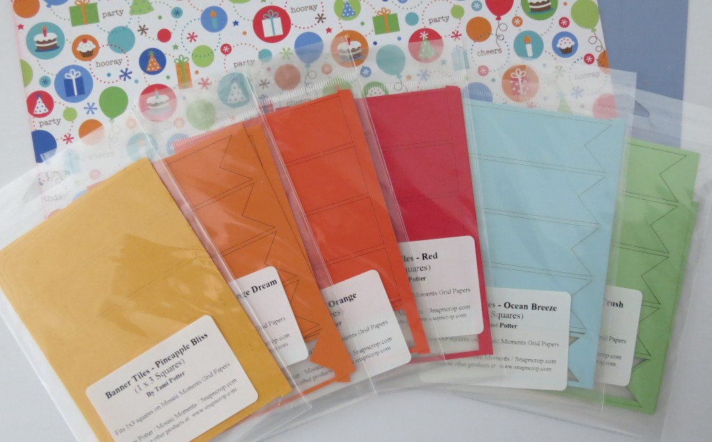 Birthday Scrapbook Pages: Assorted Banner Tiles to choose from.