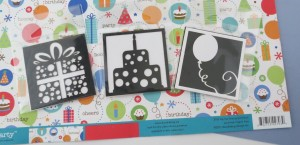 Birthday Scrapbook Pages: Cornerstones that could fit with the theme