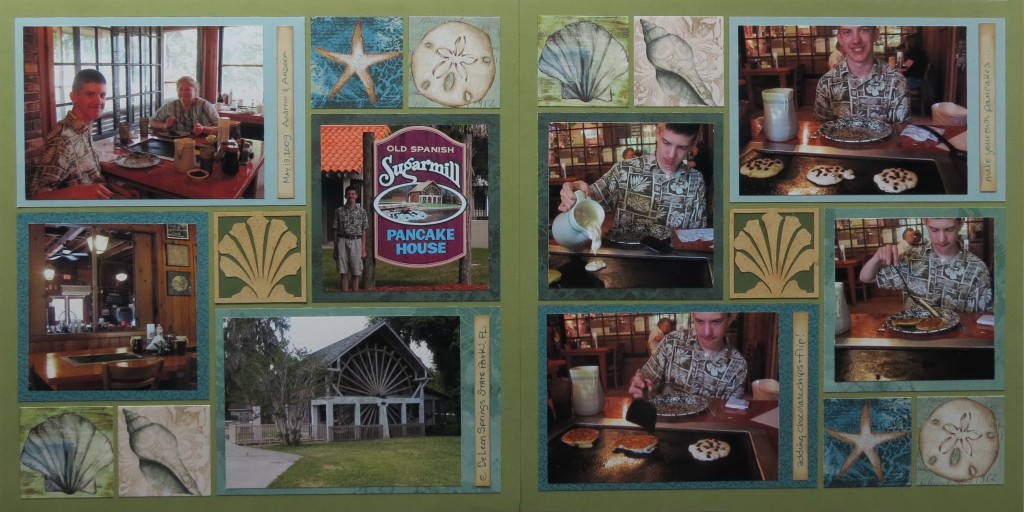 Mosaic Moments Die Sets make putting this double page layout a breeze!!