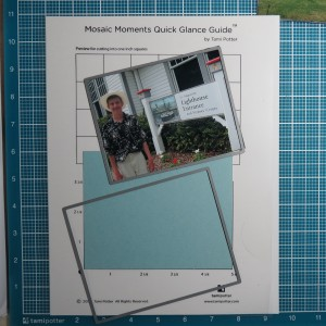 Fitting photos to the Grid DIes will cut both the paper tile base if you want to customize with your own color and trim your photo to neatly fit on top of the paper tile base.