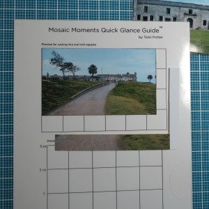 Tips for Fitting photos to the Grid. The photo trimmed in the diagram shows the small amount you lose. Fits nicely into 3x5 block size of pattern #103.