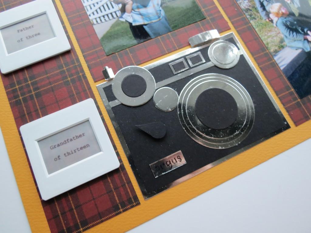 Random Photos with a Masculine Theme. Slide frames for journaling camera embellishment.