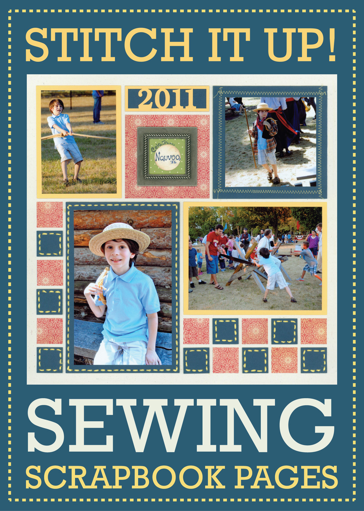 Sewing Scrapbook Pages