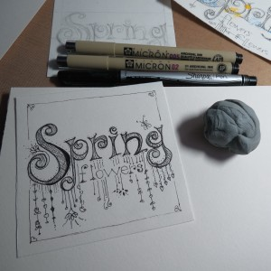 Hand Lettered Titles   Step 5. Begin adding your Doodling to your letters.
