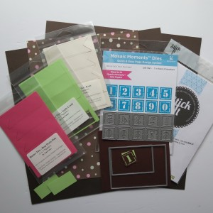 Great Expectations: Supplies used: Die Set C, Stencil Number Die, Banner Tiles, Paper Tiles, Mosaic moments Grid Paper, patterned paper.