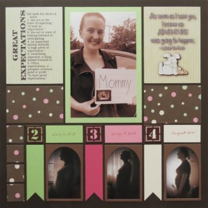 Great Expectations: Hybrid Scrapping blocks for title and journal card.