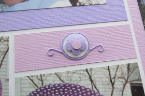 Embellishing Your Scrapbook Pages: Die for scrollwork, circles and flower punches, foam mounting tape for lift.