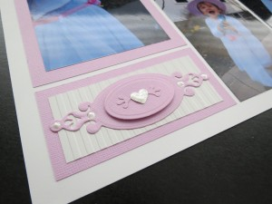 Embellishing Your Scrapbook Pages: Spellbinders Label and liquid pearls add a little fancy touch to the layout.