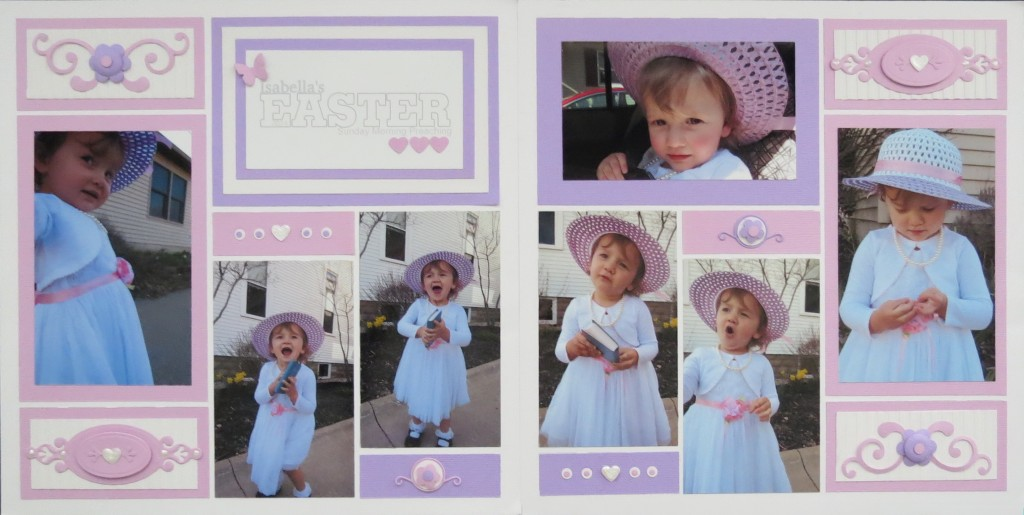 Embellishing Your Scrapbook Pages: Easter Layout