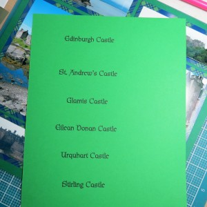 "Scrapping with Ease: Castles are printed on 8.5"" x 11"" cardstock and cut to fit using Die Set D"
