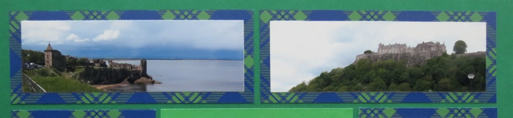 Scrapping with Ease: Two photos trimmed to fit 2x5 block size using Dies Set D